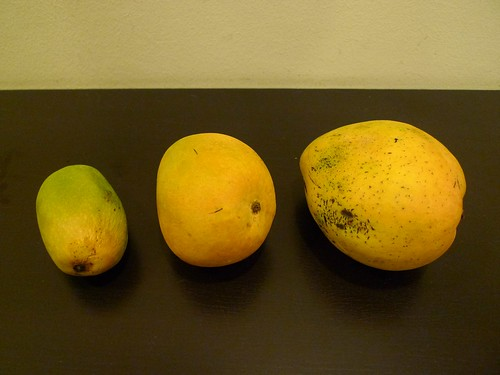 From left: deshari, surkha, and safeed mangoes