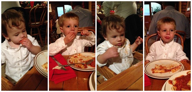 Pasta in white shirts.  Flawless.