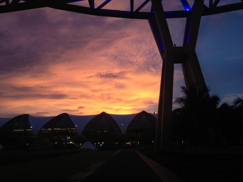 Sunset over Suvarnabhumi Airport