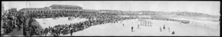 Panorama of surf carnival at Bondi Beach, New South Wales, December, 1929 / EB Studios
