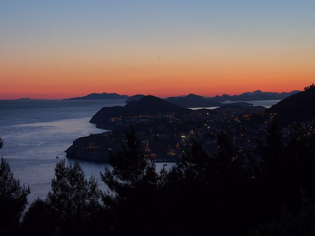 Dubrovnik的傍晚