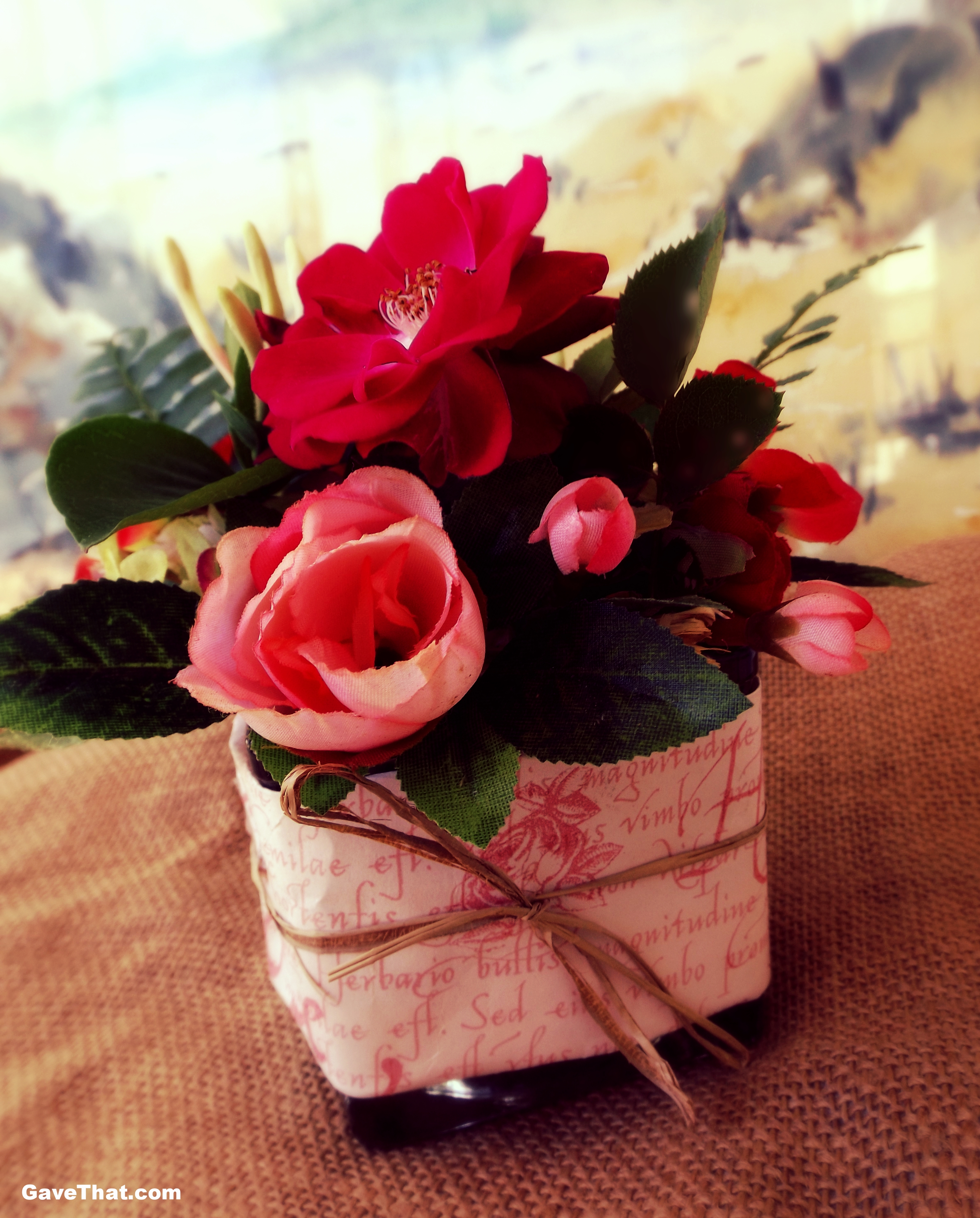 Gift Wrapped Floral Arrangement