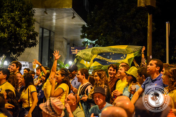Brazilians Wave Flag at World Cup 2014