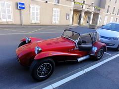 race car, automobile, lotus seven, vehicle, caterham 7 csr, antique car, vintage car, land vehicle, luxury vehicle, convertible,
