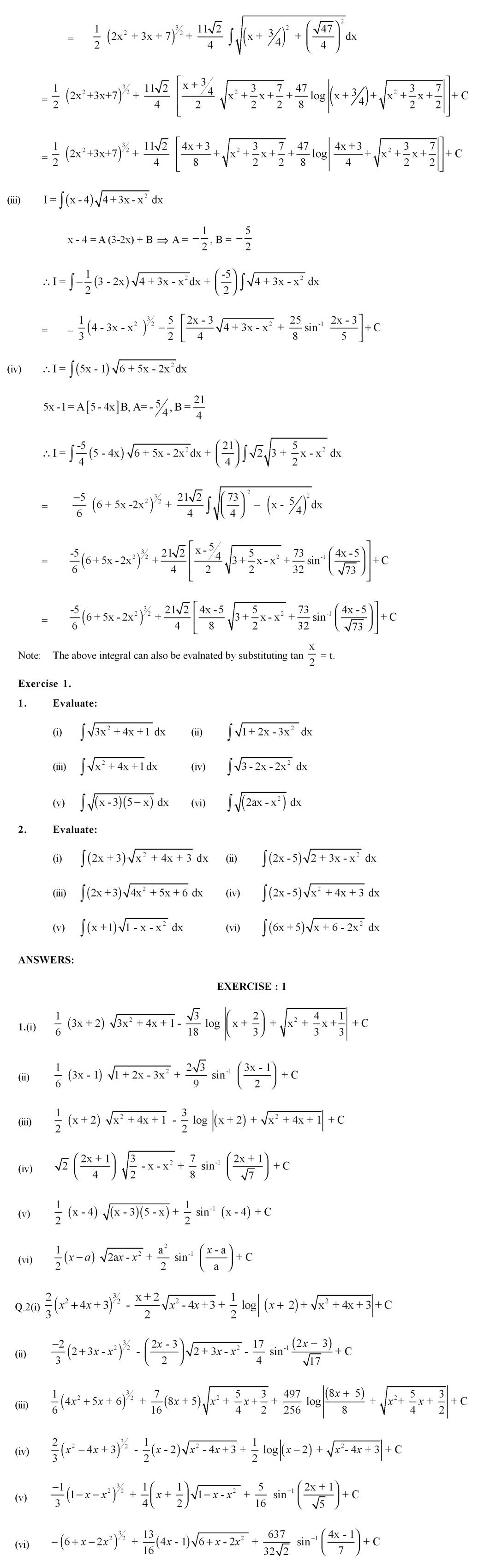 CBSE Class Class XII Supplementary Textual Material in Mathematics