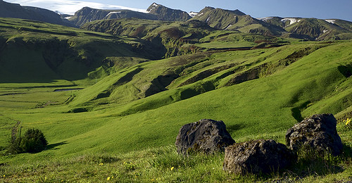 mountains green nature landscape iceland adventure nordic