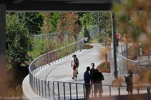 New Eastbank path under Tilikum Bridge -12