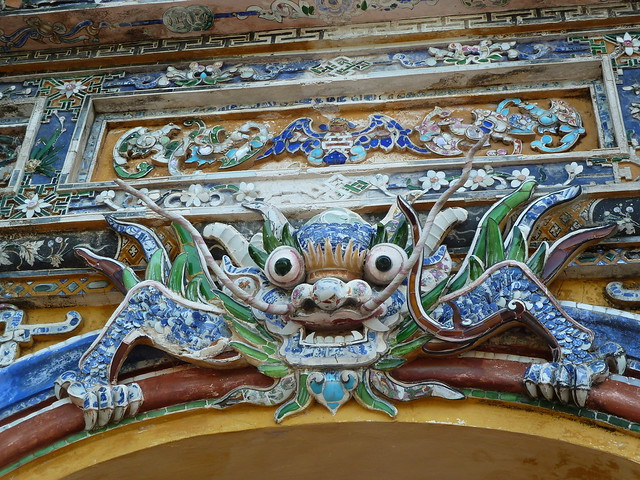 A guard demon, Hue Citadel gates