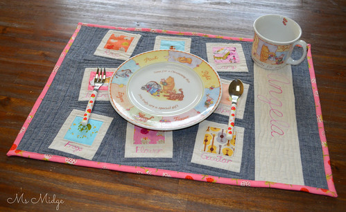 Quilted Heather Ross Placemat