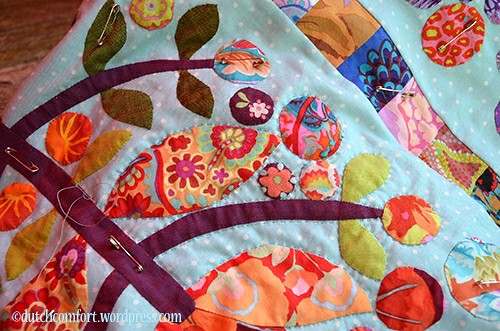 Lollypop Tree quilt quilting
