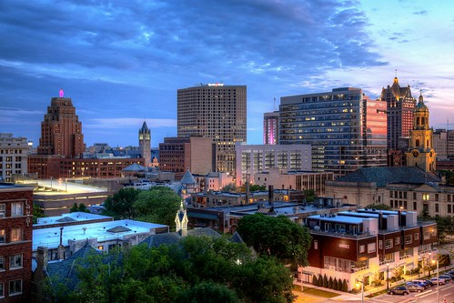 hdr milwaukee mke wisconsin usa album 2014 july summer gallery roofview upontheroof downtown easttown skyline home condo apartment office twilight