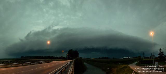 6 luglio 2014 - Shelf cloud