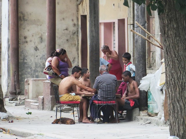 playing dominoes in Cienfuegos, Cuba