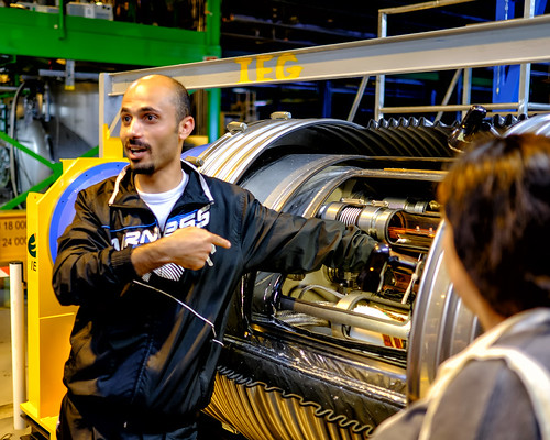 Our Guide Mohammed and a Section of the LHC