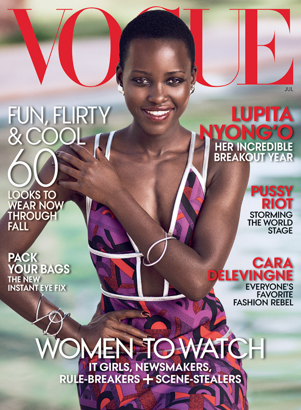 Lupita Nyong'o on the cover of Vogue Magazine July 2014