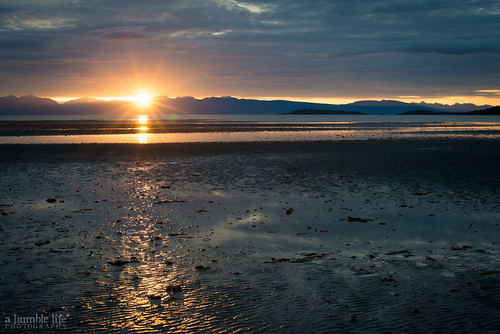 morning travel summer vacation sun seascape canada reflection beach sunrise landscape britishcolumbia parksville rathtrevor lightray