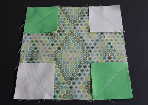 Sew along diagonal line