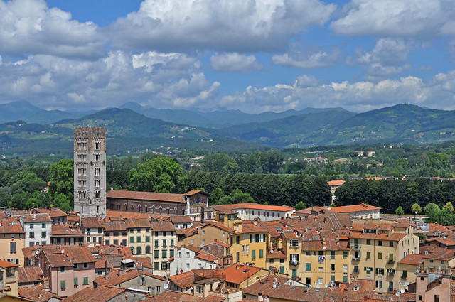 Italy - Lucca - view from Torre Guinigi