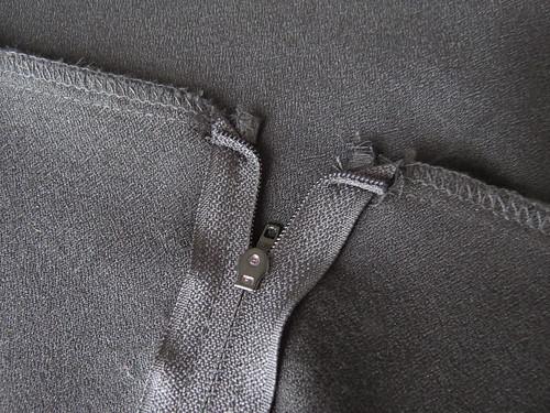 Black Pencil Skirt - In Progress