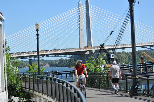 New Eastbank path under Tilikum Bridge -1