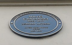 Photo of Milos Crnjanski blue plaque