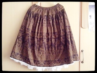 Excentrique Cathedral print skirt