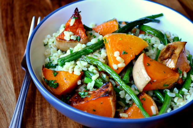 Recipe for Green Bean and Butternut Squash Salad