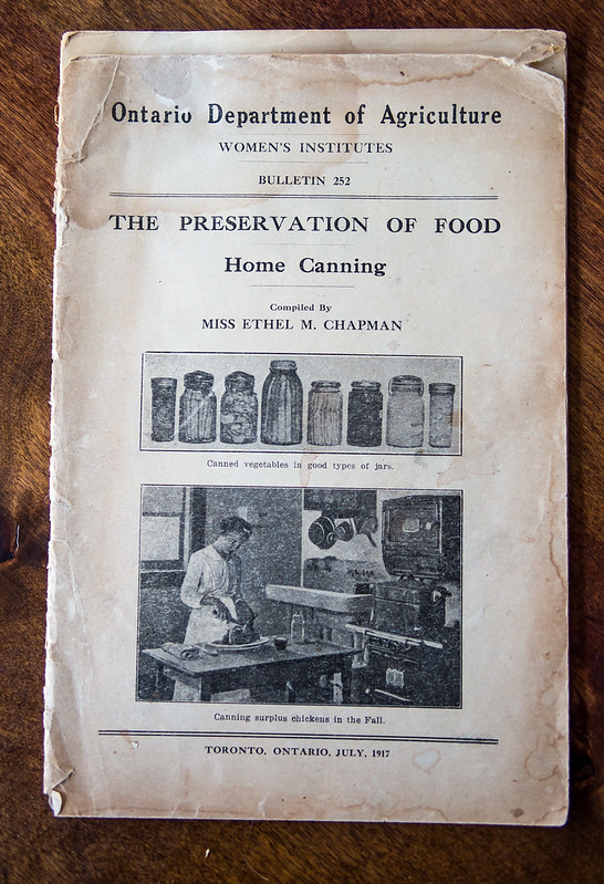 what preserving looked like in 1917, Ontario Department of Agriculture, Old Preserving Books