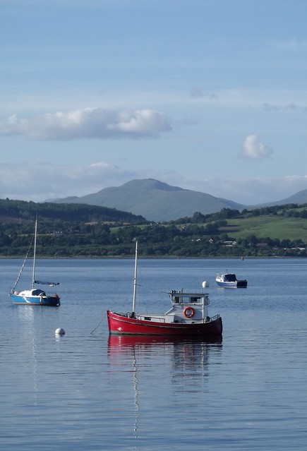Red boat at Gourock