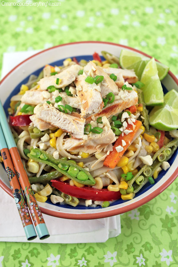 Thai Noodle Salad with Grilled
