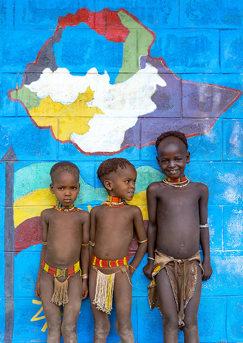 Hamer Tribe Kids In A School, Turmi, Omo Valley, Ethiopia