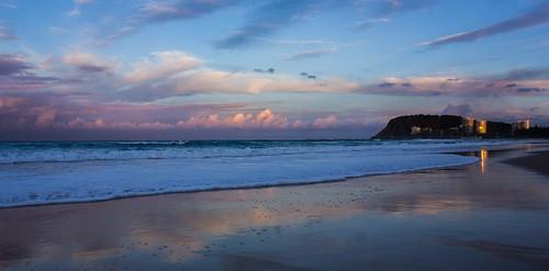 sunset seascape australia burleighheads allieca