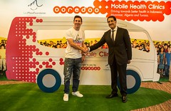 Ooredoo Leo Messi and Sheik Abdullah Al Thani