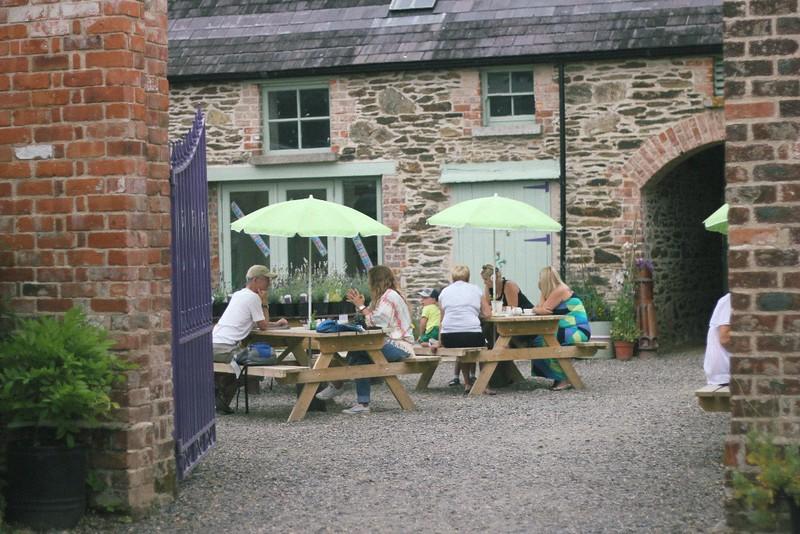 café courtyard