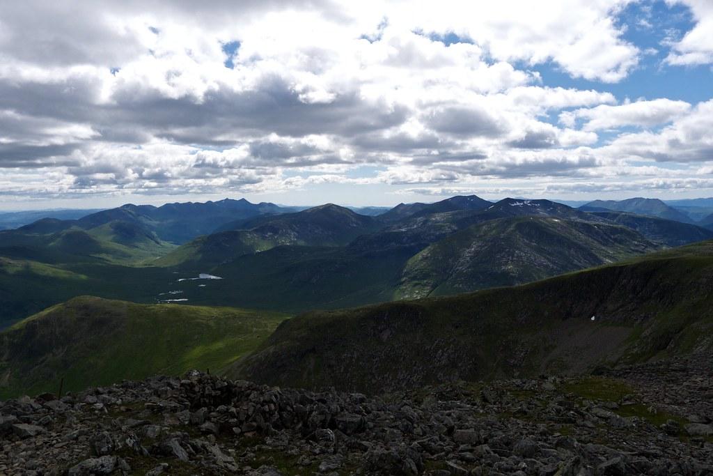 Cruachan and Starav ranges from Stob Ghabhar