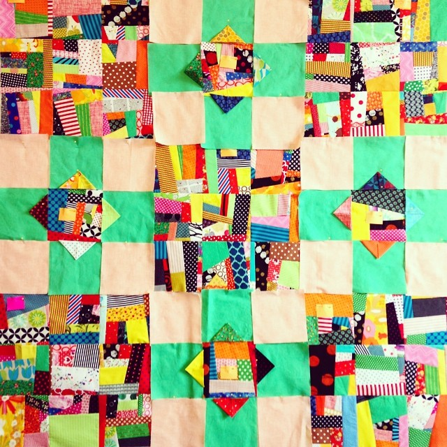 more futzing // quilt in progress