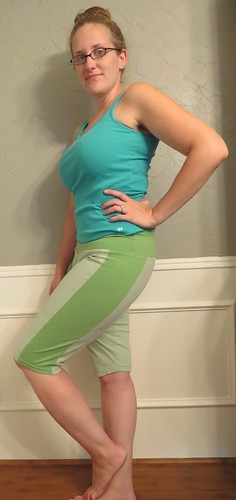 Green T-Shorts - After
