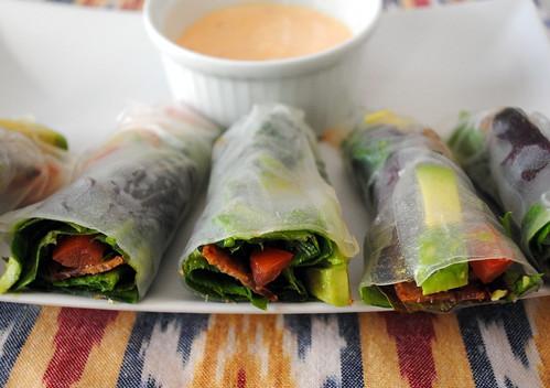 Gluten Free BLT Spring Rolls