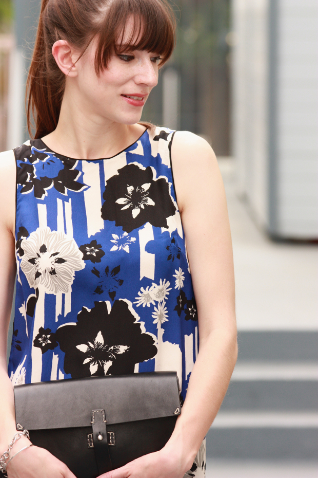 Anthropologie, Silk Dress, Madewell bag