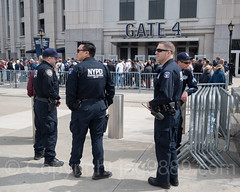 NYPD Strategic Response Group Police Officers at Yankee Stadium, The Bronx, New York City