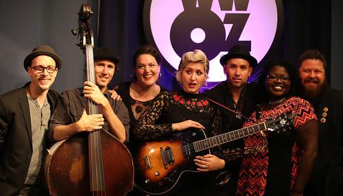 Bon Bon Vivant with WWOZ's Pearl Ricks.  Photo by Bill Sasser.