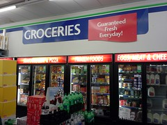 Groceries signage, from the previous generation of Fred's décor