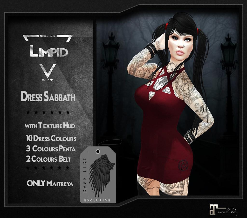 Limpid Dress Sabbath [Exclusive Dark Side 2] - SecondLifeHub.com