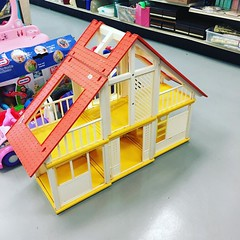 Snagged this #ashape #frame#barbie#dreamhouse from the #Goodwill #tonight. Im gonna resell it. Anyone need parts from it? #70s #mattel
