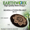 Mandala Cuddle Blanket [Brown] Ad