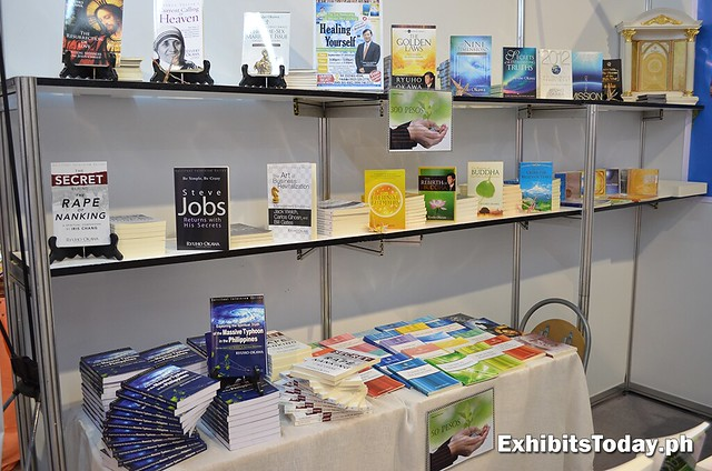Spirituality books at Happy Science booth