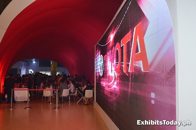 reception area of Toyota booth