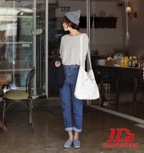 Mẫu quần jeans boyfriend nữ đẹp CỰC chất 6