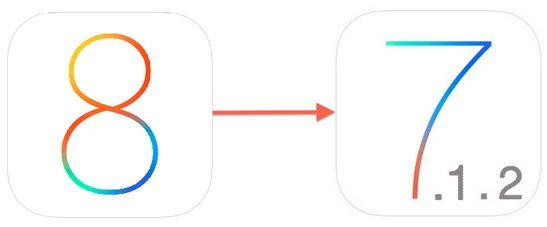откатить iOS 8 на iOS 7.1.2