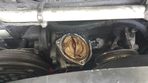 280CE coolant flush and M110 thermostat change